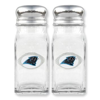 NFL Panthers Glass Salt and Pepper Shakers - Etching Personalized Gift Item