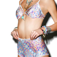 Somedays Lovin Tiled Sky Retro Bikini Bottom Multi