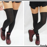 Over Knee Mock Tights/ Stockings/ Pantyhose -Opaque
