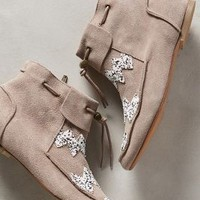 House of Harlow Monty Moccasin Booties Taupe