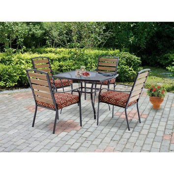 Mainstays Jackson Meadows 3-Piece Endurowood Outdoor Bistro Set, Seats 2