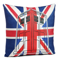 TARDIS Union Jack Pillow