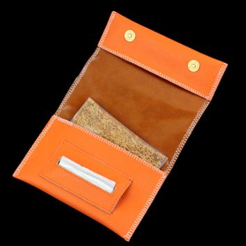 Promotion Genuine Leather Hookah Cigarette Rolling Pipe Tobacco Pouch Case Wallet Tip Paper Holder Slot