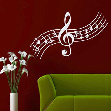 Wall Decals Treble Clef Music Notes Decal Home Bedroom Vinyl Sticker Decor MR516