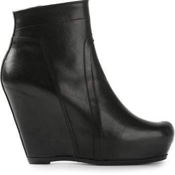 Rick Owens Wedge Heel Ankle Boot