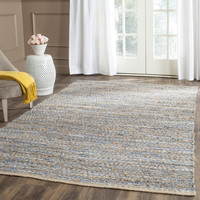 Carrie Rug in Natural & Blue