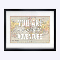 Map Of The World Nursery Quote Print