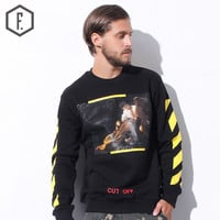 Long Sleeve Winter Stripes Pullover Hoodies [8822208195]