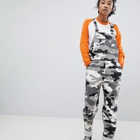 Dickies Dungarees In All Over Camo Print at asos.com