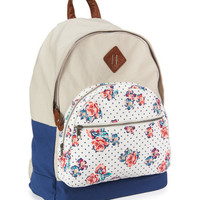 Colorblock Rose Backpack