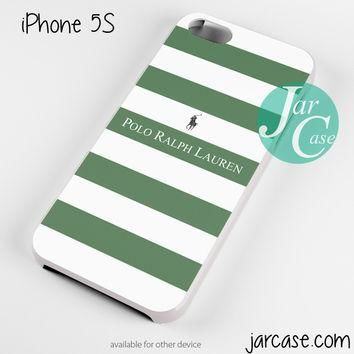 Ralph Lauren green white strips Phone case for iPhone 4/4s/5/5c/5s/6/6 plus