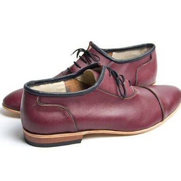 vintage burgundy and black vagabond shoes - FREE WORLDWIDE SHIPPING