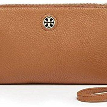 Tory Burch Brody Pebbled Leather Crossbody Bag In Bark Brown