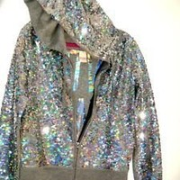 VICTORIA'S SECRET PINK SEQUIN HOODIE BLING JACKET LOVE PINK FASHION SHOW EXTRA SMALL 959:Amazon:Everything Else