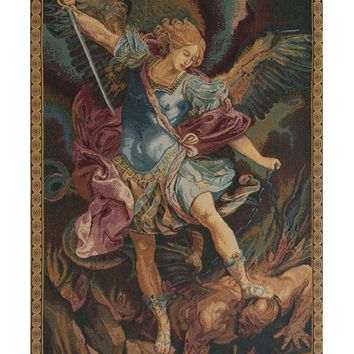 St. Michael Tapestry Wall Art Hanging