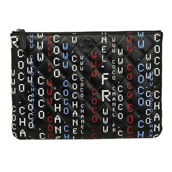ONETOW CHANEL BLACK CAVIAR LEATHER CLUTCH BAG A826658 POUCH