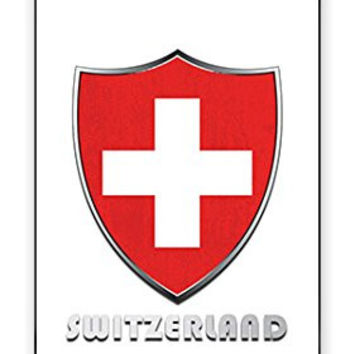 Premium SWISS Switzerland National Flag Badge Direct UV Printed iPhone 5C Quality Hard Snap On Case for iPhone 5C - AT&T Sprint Verizon - White Case