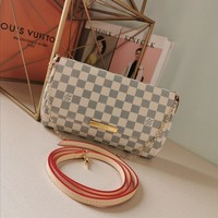DCCK Gb2981 Louis Vuitton Lv M40718 Damier Azur  Monogram Handbags Cross Body Bags Favorite Mm 28*17*4cm