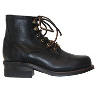 Frye Boot Engineer Lace-Up - Black Leather Boot