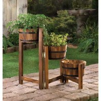 Country Barrels Garden Planter Trio