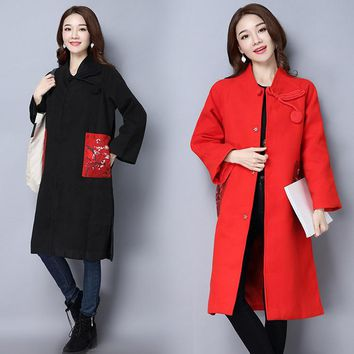 Winter Women's Fashion With Pocket Print Jacket [288440418345]