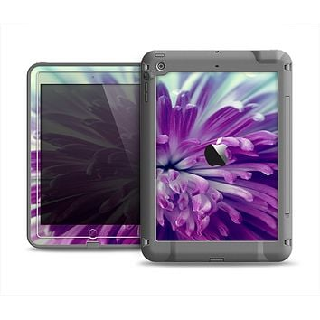 The Vivid Purple Flower Apple iPad Air LifeProof Fre Case Skin Set