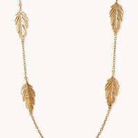 Antiqued Leaf Necklace