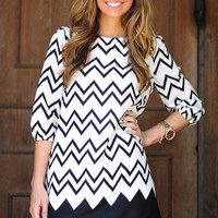Died And Gone To Heaven Chevron Dress: Black | Hope's
