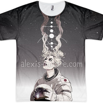 Sailor Moon Astronaut Sublimation Print Shirt
