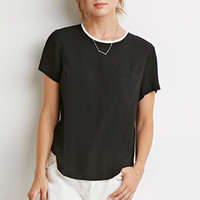 Contrast-Trimmed Pocket Top