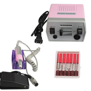 Electric Nail Art Pro Salon Drill Manicure Pedicure Machine Glazing Kit Set