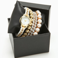 WHITE ENTWINED WATCH SET