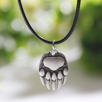 Bear Paw Necklace Whippet Dog Lover Necklaces & Pendants Silver Body Jewlery Women Charm Statement Double Sides Christmas Gift