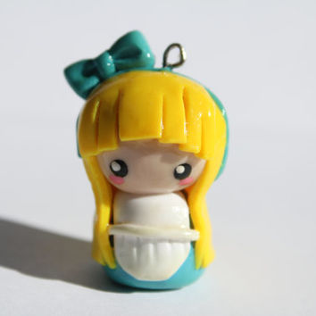 Alice in Wonderland Polymer Clay Chibi Charm Keychain