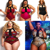 Extra Large Plus Size Hollow Bandage Triangle Sexy Erotic Sexy Bikini Swim Suit Beach Bathing Suits _ 1449