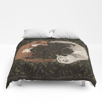Foxes Comforters by Jessica Roux