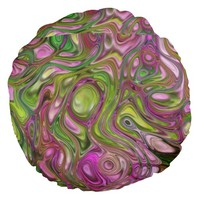 Swirls Round Pillow