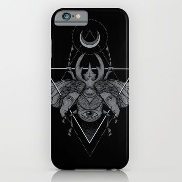Occult Beetle iPhone & iPod Case by Deniart