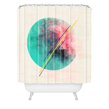 Allyson Johnson Color Explosion Shower Curtain