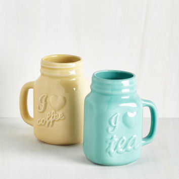 ModCloth Pastel Brew of a Kind Mug Set