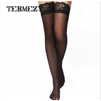 2016 Women Sexy Lingerie Lady Black Lace Pantyhose Socks Stocking Hosiery Exotic QY018