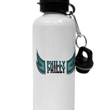 Philly Philly Funny Beer Drinking Aluminum 600ml Water Bottle by TooLoud