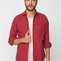 Canvas Long Sleeve Button-Up Shirt