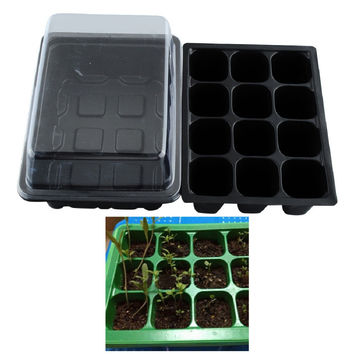 12 Cells Hole Nursery Pots Plant Seeds Grow Box Tray Insert Propagation Seeding Case Flower pot plug plant trays