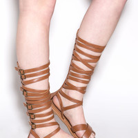 Crossed Wires Gladiator Sandals
