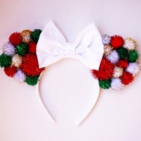 Holiday Pom Pom Mouse Ears
