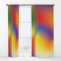 Colorful Window Curtains by Paula Oliveira
