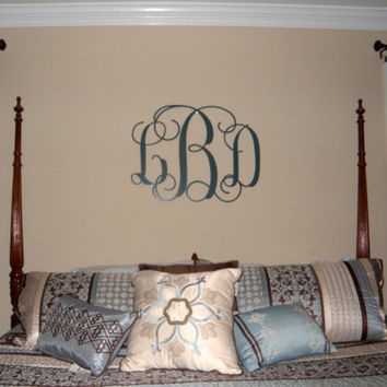 Three Letter Metal Monogram / Wedding gift/ Anniversary gift/Housewarming gift/