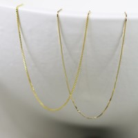 ANOMIE: Super Thin Box Chain Choker | 14k Yellow Gold | GJENMi | Made in USA