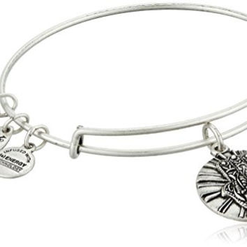 Alex and Ani Hand of Fatima II Expandable Rafaelian Silver-Tone Bangle Bracelet